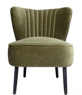Casa Padrino Luxus Wohnzimmer Sessel Grün 61 x 70 x H. 73 cm - Designer Möbel
