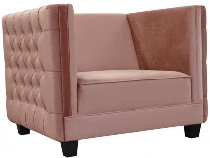 Casa Padrino Luxus Chesterfield Samt Sessel 102 x 84, 5 x H. 80 cm - Verschiedene Farben - Chesterfield Möbel