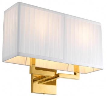 Casa Padrino Luxus Wandleuchte Gold 36 x 13, 5 x H. 27 cm - Wohnzimmer Wandlampe