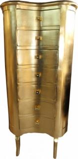 Casa Padrino Barock Kommode Gold mit 7 Schubladen Oval - Antik Stil - Vorschau 1