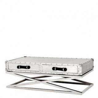 Casa Padrino Designer Couchtisch Vintage Metal - Salon Tisch -Coffee Table