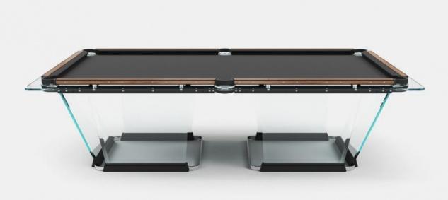 Casa Padrino Luxus Designer Pool Billardtisch 9ft Schwarz / Braun 290 x 163 x H. 82 cm - Hotel Kollektion - Luxus Qualität