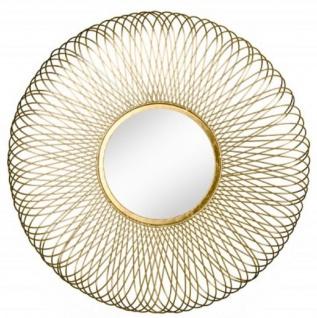Casa Padrino Designer Wandspiegel Designer Spiegel -goldfarbig-
