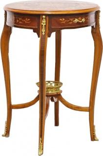 Casa Padrino Barock Beistelltisch mit Schubladen Braun Intarsien 60 x 86 cm - Antik Stil Beistelltisch - Limited Edition