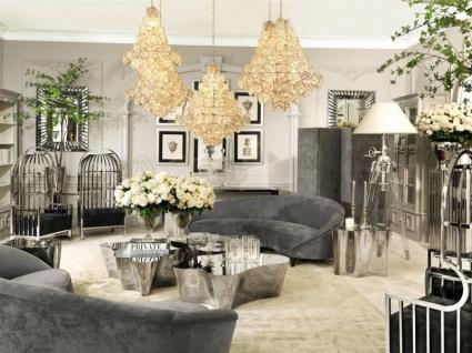 Casa Padrino Antik Stil Luxus Barock Blumenvase Glas Hotel Dekoration - Blumengefäss Standvase - Vorschau 2