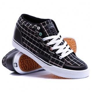 Circa Skateboard Schuhe Pusher W Black/Black South Beach Plaid