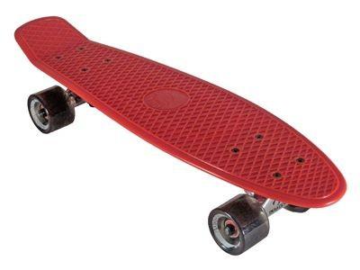 Oldschool Skateboard Plastic Cruiser 70s Style Red / Black Plastik Skateboard - Vinyl Skateboard Cruiser Longboard
