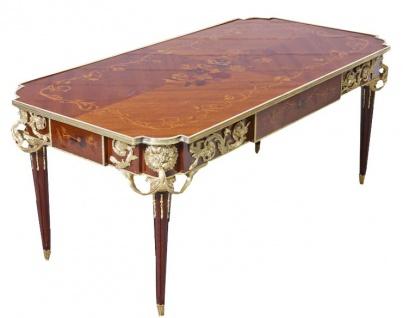 Casa Padrino Luxus Barock Schreibtisch Mahagoni Sekretär 120 cm - Antik Stil - Vorschau 2