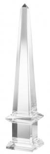Casa Padrino Luxus Deko Kristallglas Obelisk 15 x 15 x H. 77, 5 cm - Limited Edition
