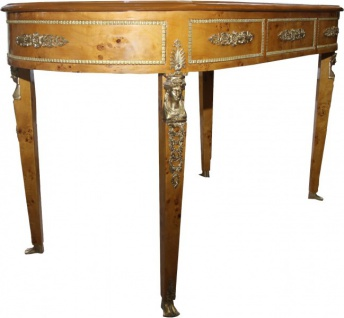 Casa Padrino Luxus Barock Empire Schreibtisch Sekretär mit 3 Schubladen 150 cm - Handgefertigt aus Massivholz - Barock Schreibtisch Büro Möbel - Vorschau 4