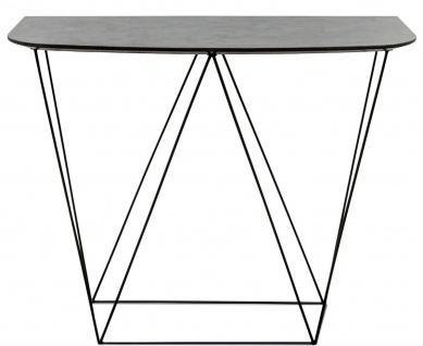 Casa Padrino Luxus Konsole mit einer mineralbeschichteten Tischplatte 100 x 40 x H. 85 cm - Wohnzimmermöbel