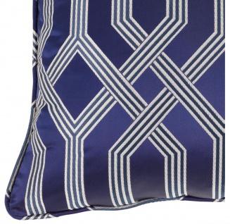 Casa Padrino Luxus Kissen blau mit Muster 60 x 60 cm - Luxus Accessoires - Vorschau 2