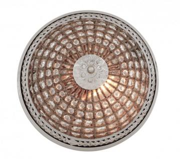 Casa Padrino Luxus Deckenleuchte Nickel Durchmesser 45 x H 37 cm Antik Stil - Möbel Lüster Deckenlampe - Vorschau 4