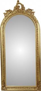 Casa Padrino Barock Luxus Wandspiegel Gold B 83 cm, H 176 cm - Edel & Prunkvoll