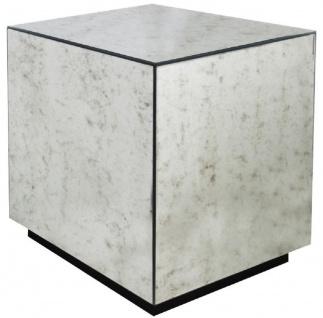 Casa Padrino Luxus Beistelltisch 50 x 50 x H. 60 cm - Quadratischer Tisch mit antikem Spiegelglas - Luxus Kollektion