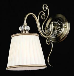 Casa Padrino Barock Kristall Wandleuchte Bronze 30 x H 28 cm Antik Stil - Wandlampe Wand Beleuchtung