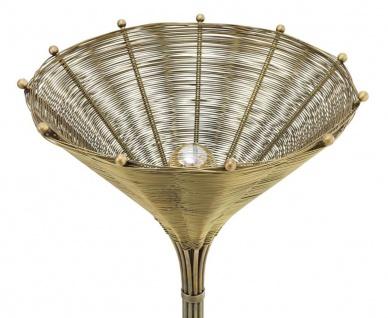 Casa Padrino Luxus Tischleuchte Vintage Messingfarben Ø 41 x H. 83, 5 cm - Wohnzimmerlampe - Vorschau 3