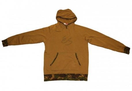 ES Skateboard Pullover Hoodie Zip Army Camo Sweater
