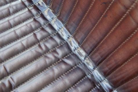 Casa Padrino Vintage Industrial Echtleder Armlehnstuhl Industrie Stuhl - ALLE FARBEN - Luxus Sessel Industrie Armlehner Design Möbel Büffelleder - Vorschau 5