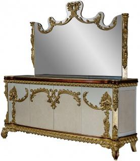 Casa Padrino Luxus Barock Möbel Set Sideboard mit Spiegel - Prunkvoller Massivholz Schrank mit Wandspiegel - Edle Möbel im Barockstil - Luxus Qualität - Vorschau 2
