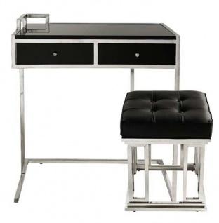 Casa Padrino Luxus Schreibtisch mit Hocker - Luxus Edition