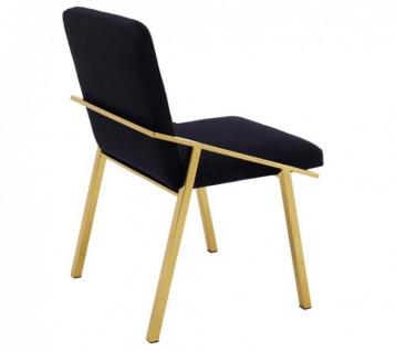 Casa Padrino Luxus Designer Stuhl Schwarz Gold - Luxus Kollektion - Vorschau 2