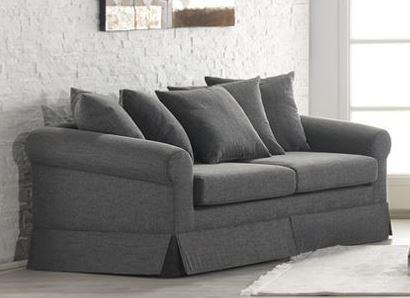 Casa Padrino Lounge Wohnzimmer 3er Sofa Marbella Mittelgrau - Hotel Möbel