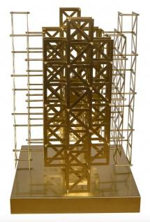 Casa Padrino Designer Tischleuchte Messing 45 x 45 x H. 65 cm - Hotel Möbel - Vorschau 3
