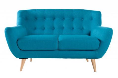 Chesterfield 2er Sofa blau aus dem Hause Casa Padrino - Wohnzimmer Möbel - Couch - Vorschau 3