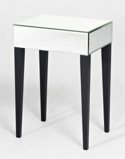Casa Padrino Luxus Spiegelglas Beistelltisch 41 x 30 x H. 60 cm - Hotel Möbel