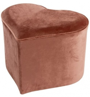 Casa Padrino Designer Herz Sitzhocker Rosa 46 x 40 x H. 54 cm - Herzförmiger Luxus Deko Hocker