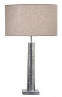 Casa Padrino Luxus Tischleuchte Silber / Taupe Ø 40 x H. 70 cm - Wohnzimmer Deko Leuchte