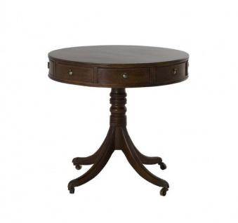Casa Padrino Luxus Art Deco Designer Eichenholz Beistelltisch 80 x H. 74 cm - Luxus Tisch