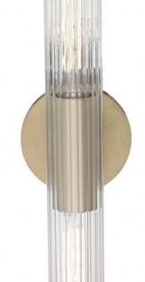 Casa Padrino Luxus Wandleuchte Antik Messingfarben 12, 1 x 8, 9 x H. 62, 9 cm - Wohnzimmer Wandlampe - Vorschau 2