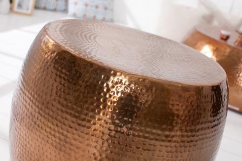 Casa Padrino Luxus Couchtisch Kupfer 60 cm Aluminium - Wohnzimmer Salon Tisch - Unikat - Vorschau 5
