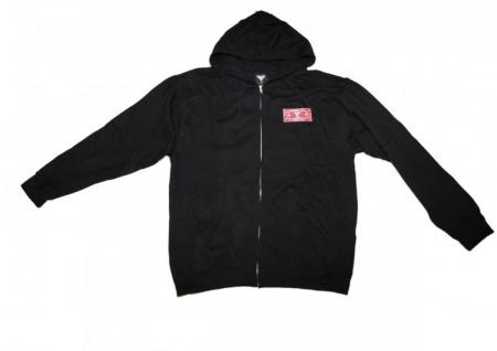 Fallen Skateboard Pullover Hooded Zip Black sweater
