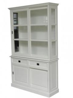 Großer Shabby Chic Landhaus Stil Schrank mit 2 Türen und 2 Schubladen - Buffetschrank - Schrank Esszimmer
