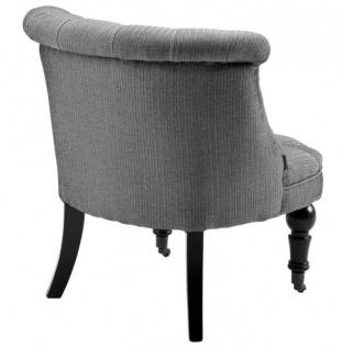 Luxus Barock Salon Stuhl Paris mit Fischgratmuster schwarz/weiss aus der Luxus Kollektion von Casa Padrino - Hotel Cafe Restaurant Möbel Einrichtung - Vorschau 2