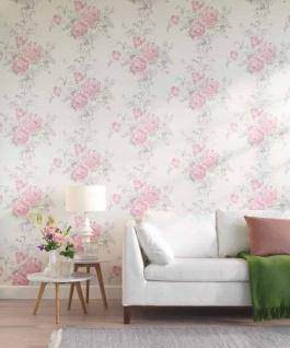 Casa Padrino Barock Textiltapete Creme / Rosa / Grün / Grau 10, 05 x 0, 53 m - Tapete mit Blumenmuster - Vorschau 2