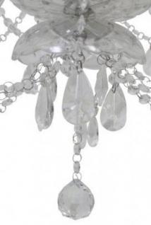 Casa Padrino Barock Decken Kristall Kronleuchter Klar Durchmesser 75 x H 71 cm Antik Stil - Möbel Lüster Leuchter Deckenleuchte Hängelampe - Vorschau 2