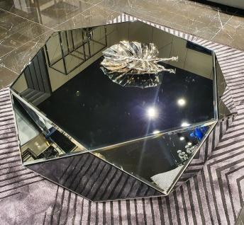 Casa Padrino Luxus Couchtisch 90 x 90 x H. 45 cm - Verspiegelter Wohnzimmertisch - Verspiegelte Luxus Wohnzimmer Möbel