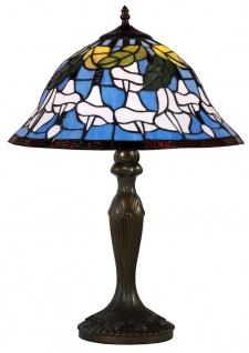 Casa Padrino Tiffany Tischlampe Mehrfarbig Ø 40, 5 x H. 59 cm - Luxus Tischleuchte aus zahlreichen Glas Mosaik Stücken
