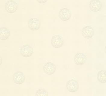 Versace Designer Barock Vliestapete Vanitas 348621 Weiß - Design Tapete - Luxus Deko Accessoires