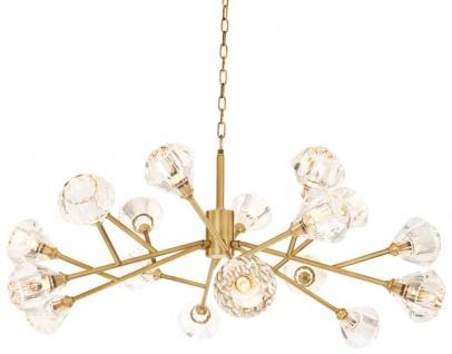 Casa Padrino Luxus Kronleuchter Antik Messing Ø 124 x H. 56 cm - Luxus Qualität