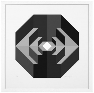 Casa Padrino Designer Deko Bilder Set Abstrakte Kunst Schwarz / Grau / Weiß 75 x H. 75 cm - Luxus Kunstdrucke mit Holzrahmen - Vorschau 2