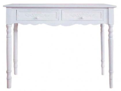 Casa Padrino Landhausstil Konsole Weiß 98 x 34 x H. 78 cm - Handgefertigter Landhausstil Konsolentisch