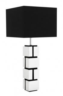 Casa Padrino Luxus Tischleuchte Nickel Durchmesser 13 x 40 x H 88 cm - Leuchte - Tischleuchte