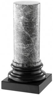 Casa Padrino Luxus Marmorsäule Grau / Schwarz 10 x 10 x H. 20, 5 cm - Wohnzimmer Deko Accessoires