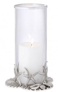 Casa Padrino Luxus Kerzenleuchter Antik Silber Ø 20, 5 x H. 31, 5 cm - Luxus Deko Accessoires