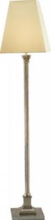 Casa Padrino Luxus Barock Stehleuchte versilbert mit Säule 170 x 35 cm - Stehlampe - Handgefertigt in Italien - Vorschau